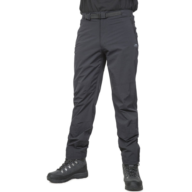 Black - Front - Trespass Mens Stormed Adventure Trousers