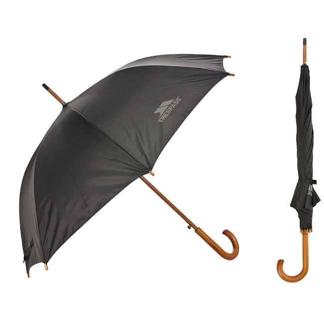 Black - Back - Trespass Adults Baum Umbrella
