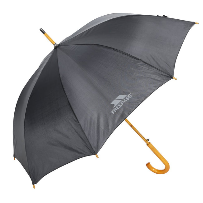 Black - Front - Trespass Adults Baum Umbrella