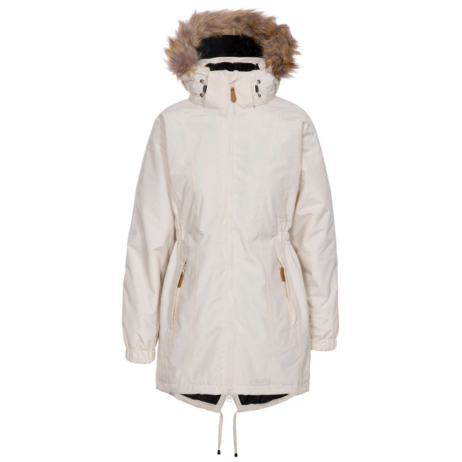Fawn - Front - Trespass Womens-Ladies Celebrity Insulated Longer Length Parka Jacket