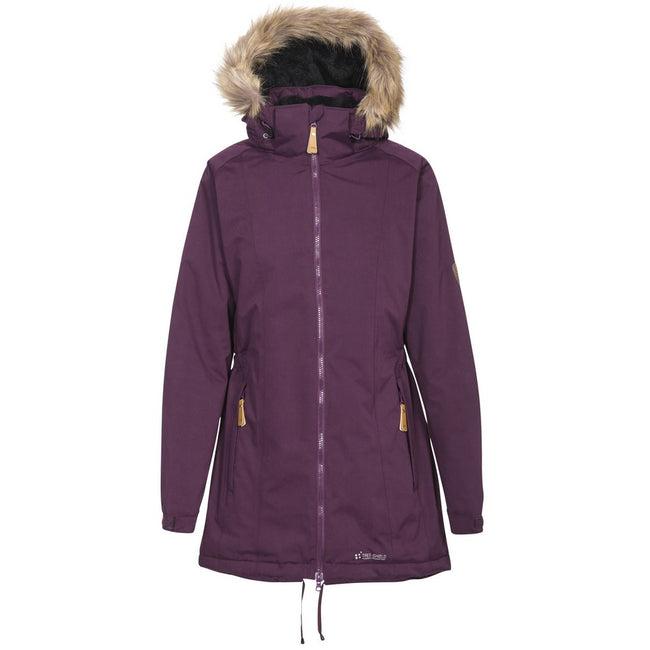 Potent Purple - Front - Trespass Womens-Ladies Celebrity Insulated Longer Length Parka Jacket