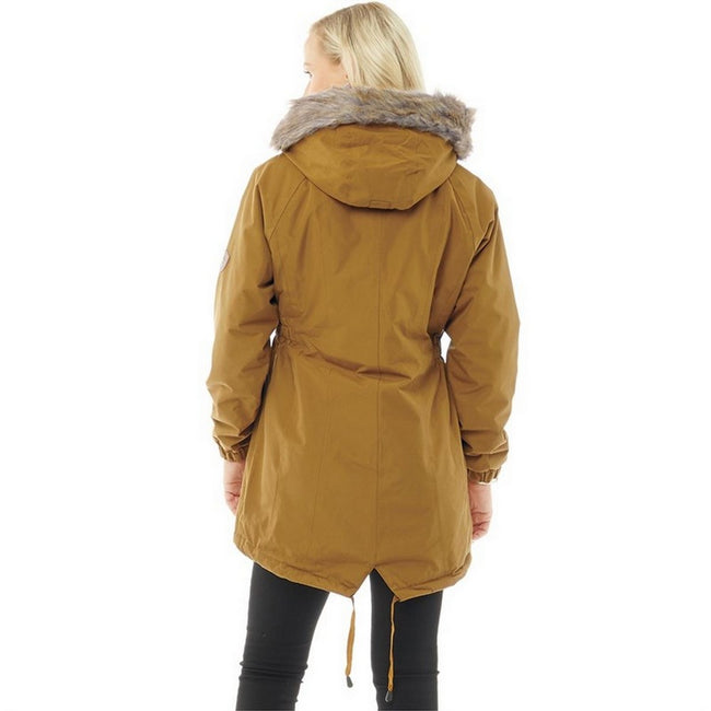 Golden Brown - Lifestyle - Trespass Womens-Ladies Celebrity Insulated Longer Length Parka Jacket