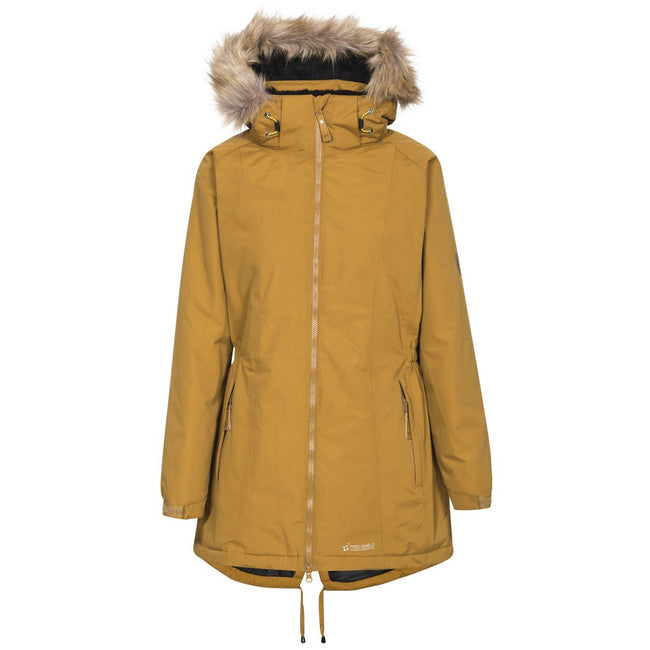 Golden Brown - Front - Trespass Womens-Ladies Celebrity Insulated Longer Length Parka Jacket