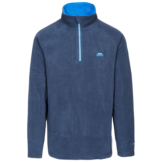 Navy - Side - Trespass Mens Blackford Microfleece