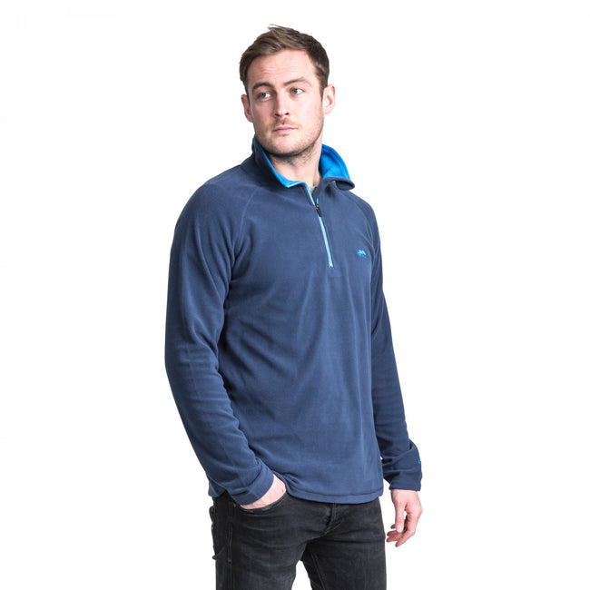 Navy - Lifestyle - Trespass Mens Blackford Microfleece