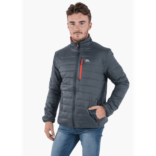 Carbon - Back - Trespass Mens Norman Padded Jacket