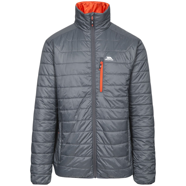 Carbon - Front - Trespass Mens Norman Padded Jacket