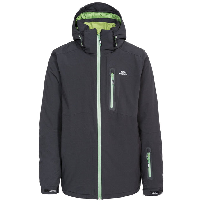 Black - Front - Trespass Mens Kilkee Waterproof Ski Jacket