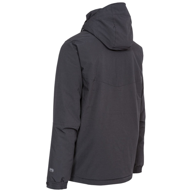 Black - Back - Trespass Mens Kilkee Waterproof Ski Jacket
