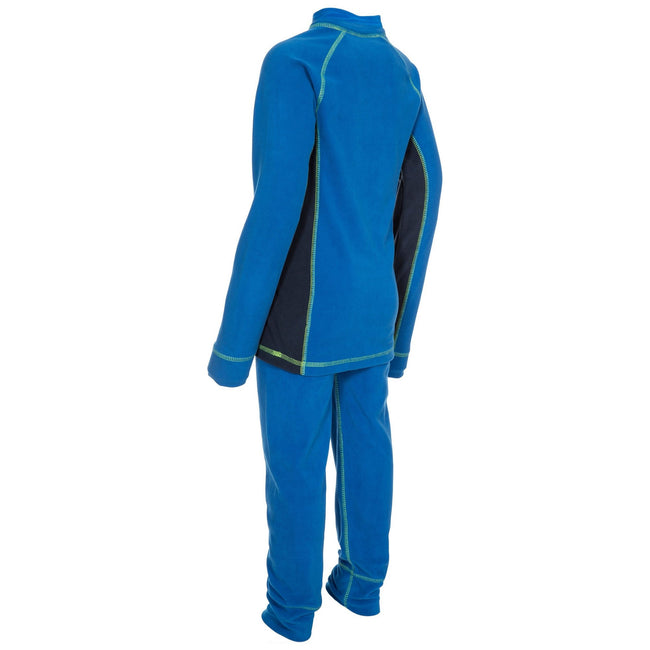 Black - Front - Trespass Childrens-Kids Bubbles Fleece Top And Bottom Base Layers