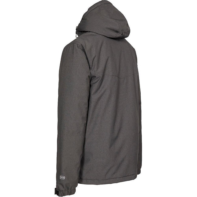 Carbon - Back - Trespass Mens Cavan Hooded Ski Jacket