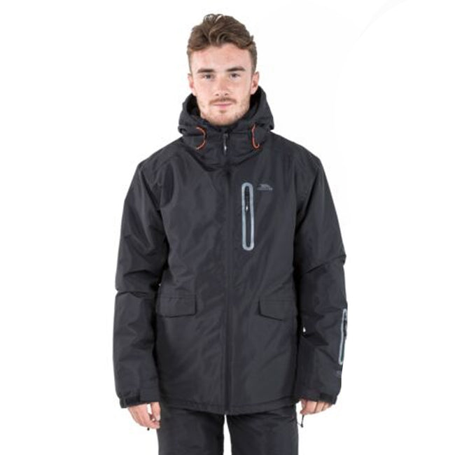 Hot Orange - Front - Trespass Mens Slyne Hooded Ski Jacket