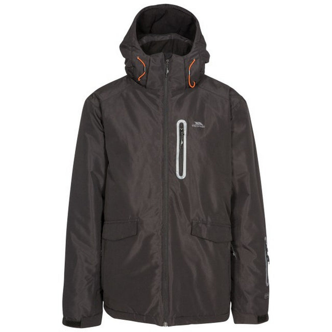 Black - Front - Trespass Mens Slyne Hooded Ski Jacket