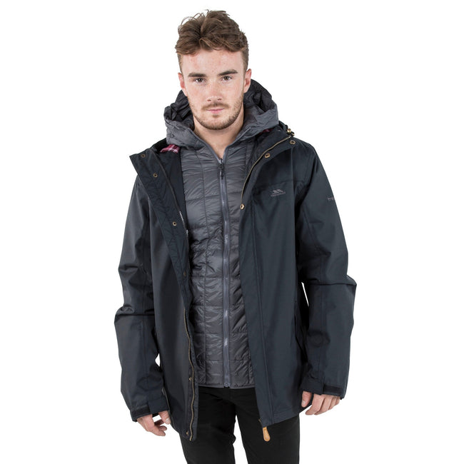 Black - Lifestyle - Trespass Mens Enthusiasts Waterproof Jacket