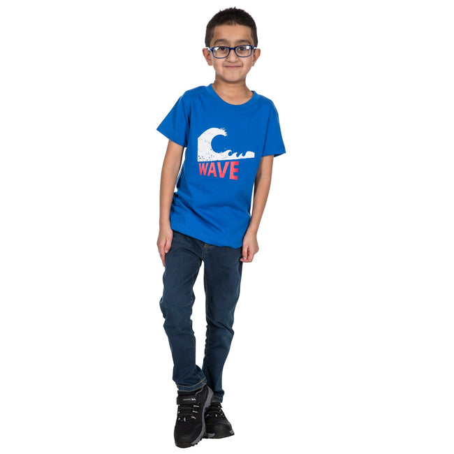 Blue - Side - Trespass Childrens Boys Jakob T-Shirt