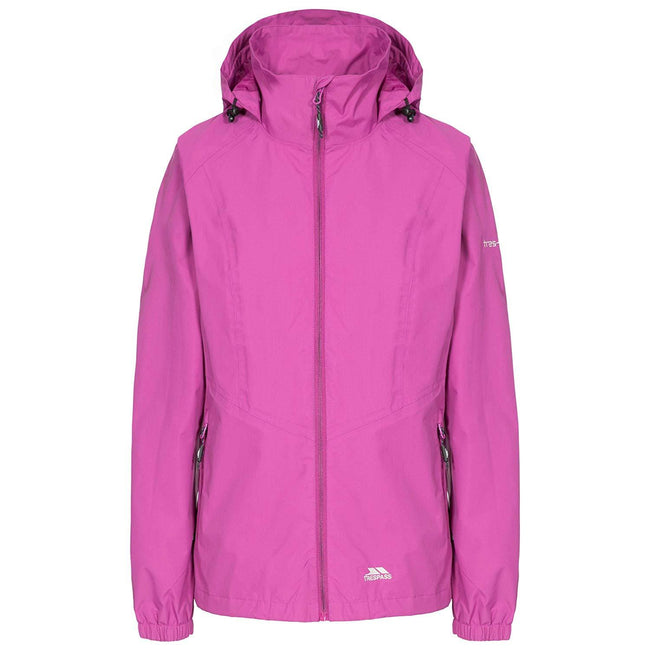 Purple Orchid - Front - Trespass Womens-Ladies Blyton Waterproof Jacket