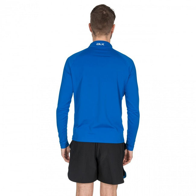 Blue - Side - Trespass Mens Tierney Active Top