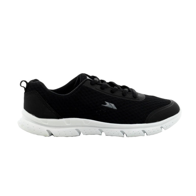 Black - Lifestyle - Trespass Childrens-Kids Tracking Memory Foam Trainers
