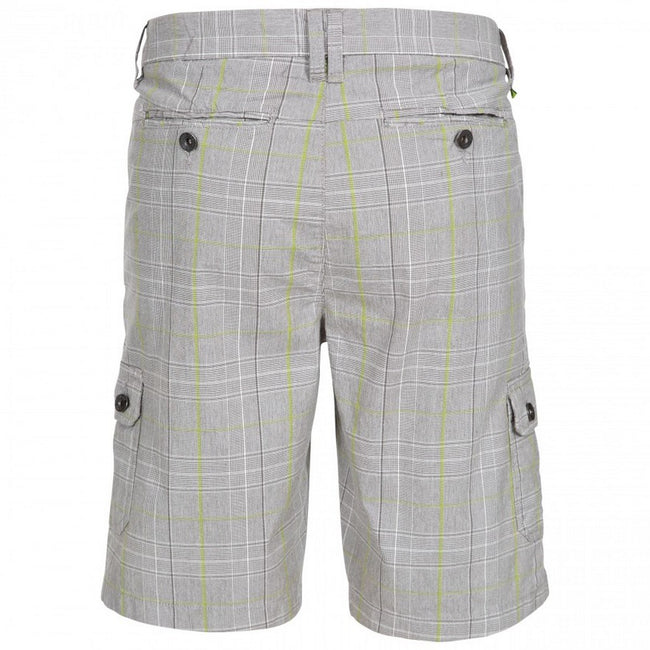 Oatmeal Check - Back - Trespass Mens Earwig Cargo Shorts
