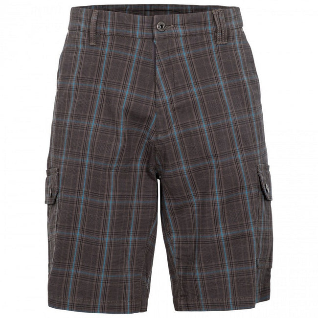 Peat Check - Front - Trespass Mens Earwig Cargo Shorts