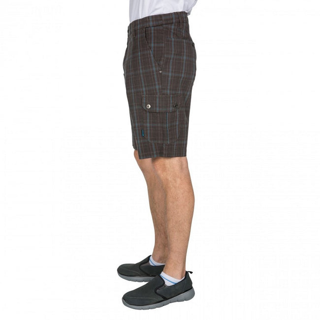 Peat Check - Side - Trespass Mens Earwig Cargo Shorts