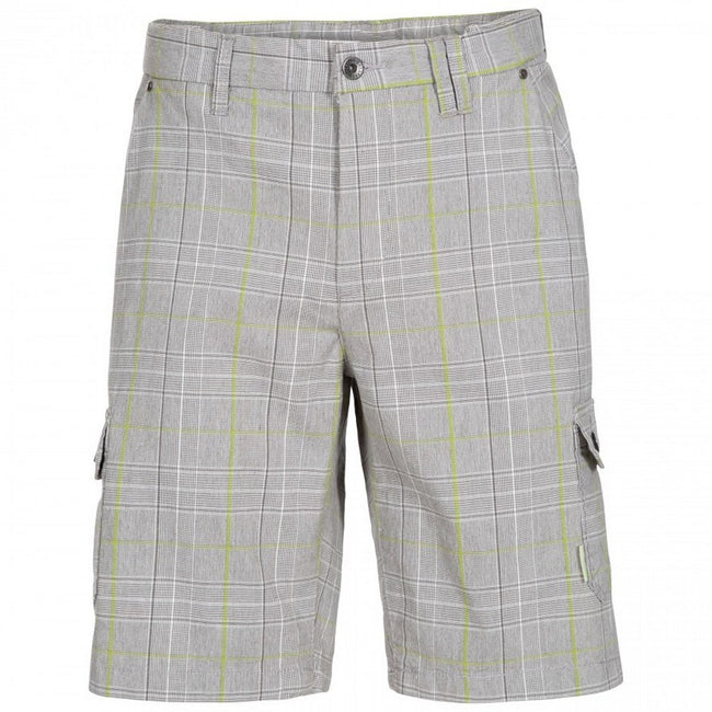 Oatmeal Check - Front - Trespass Mens Earwig Cargo Shorts