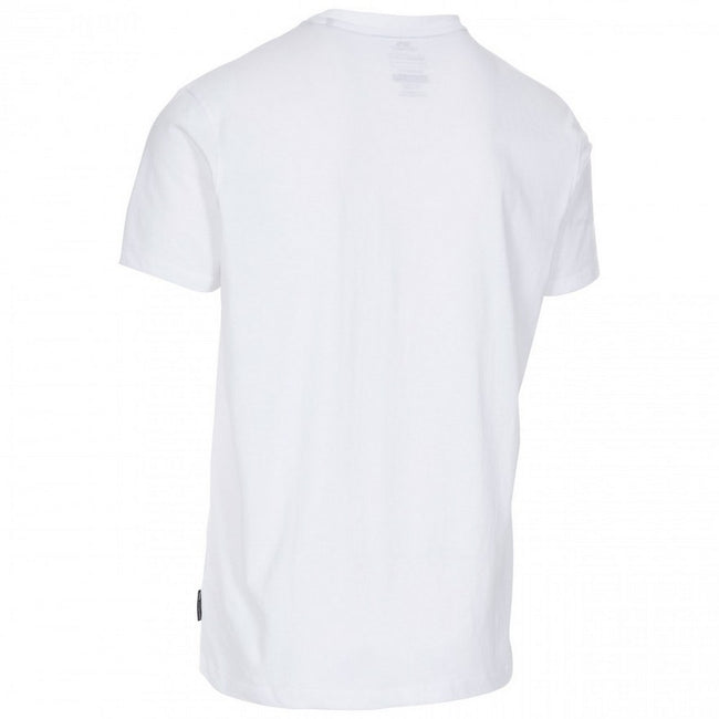 White - Back - Trespass Mens Lyons II Crew Neck T Shirt