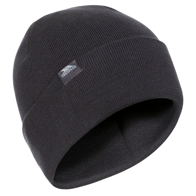 Black - Front - Trespass Unisex Beanie Hat