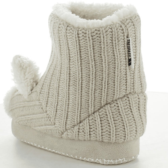 Champagne - Back - Trespass Childrens Girls Sootie Teddy Bear Slipper Boots
