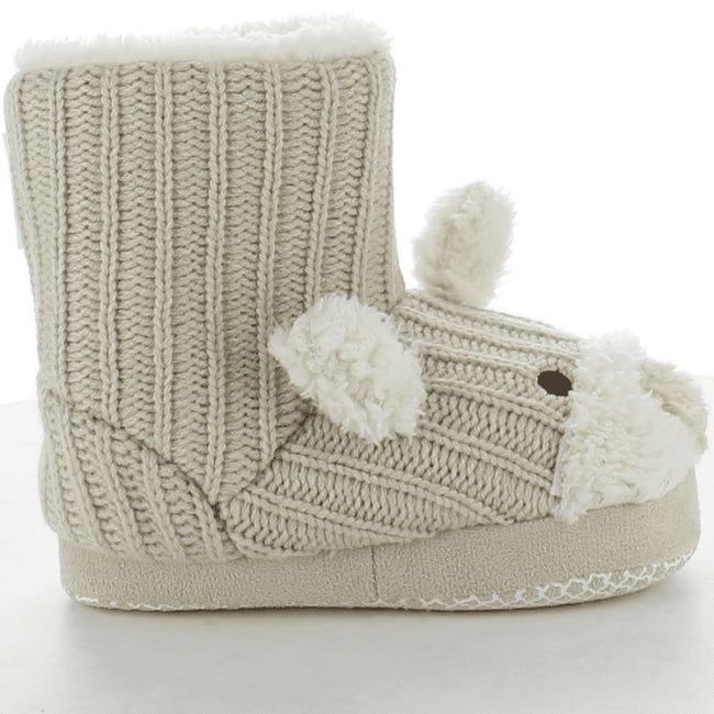 Champagne - Lifestyle - Trespass Childrens Girls Sootie Teddy Bear Slipper Boots