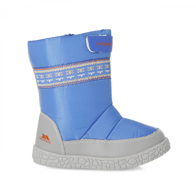 Bright Blue - Back - Trespass Toddlers Boys Alfred Winter Snow Boots