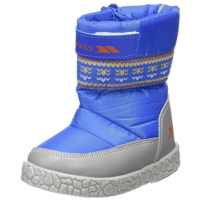 Bright Blue - Front - Trespass Toddlers Boys Alfred Winter Snow Boots