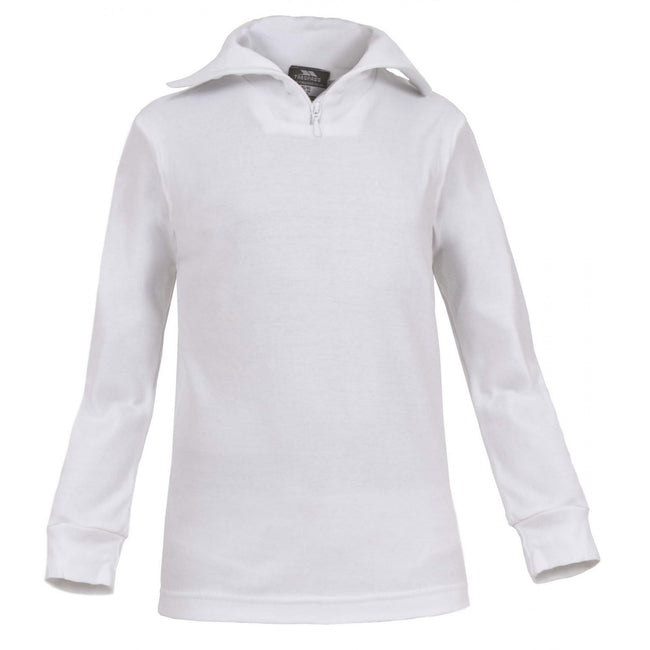 White - Front - Trespass Kids Boys Dolomite Ski Polo