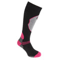 Black - Front - Womens-Ladies High Performance Ski Socks (1 Pair)