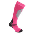 Pink - Front - Womens-Ladies High Performance Ski Socks (1 Pair)