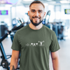 Man-smiling-with-a-funny-green-fitness-t-shirt