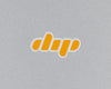 'dip' logo mark sticker - gold