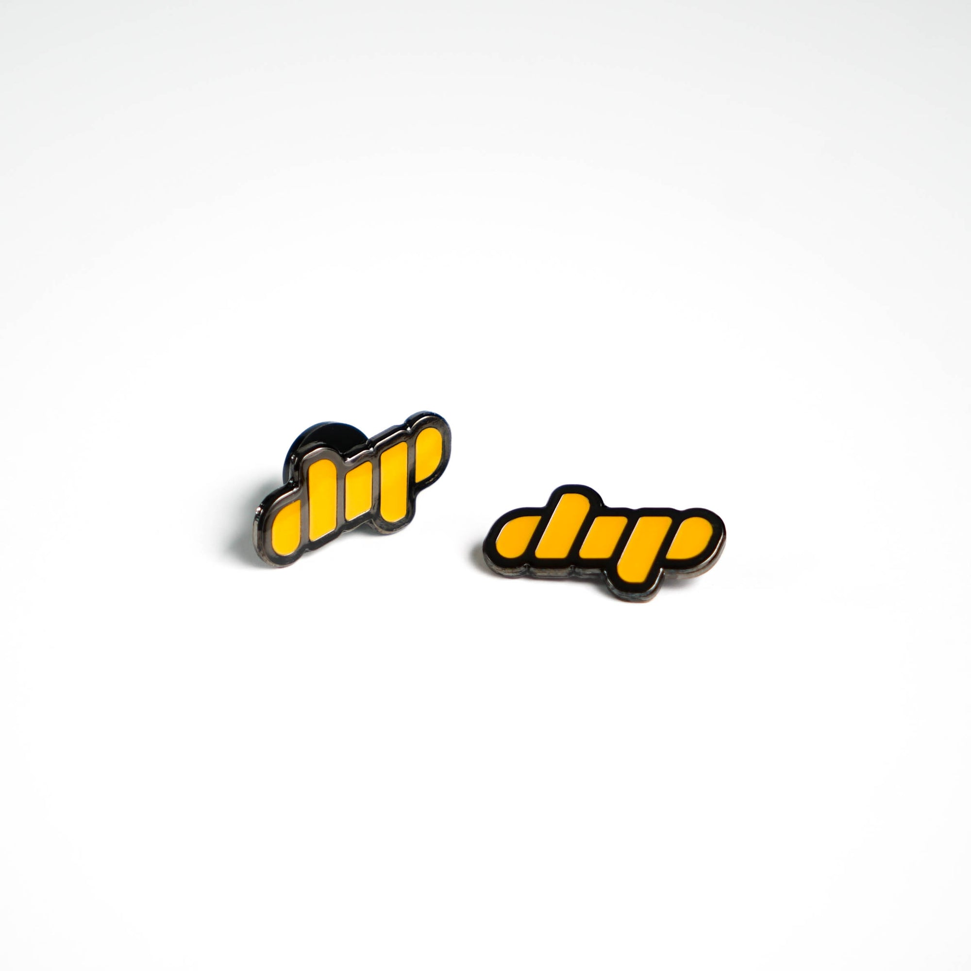 Dip yellow enamel pin