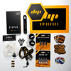 All inclusive Dipper Starter Kit- Charcoal with Quartz Crystal Atomizer, Vapor tips, stickers, Dipwhip, glass wax containers, enamel pins, lanyard, dab tools