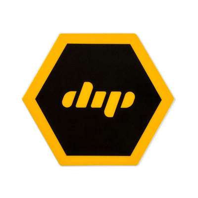 Dip black and yellow silicone mat