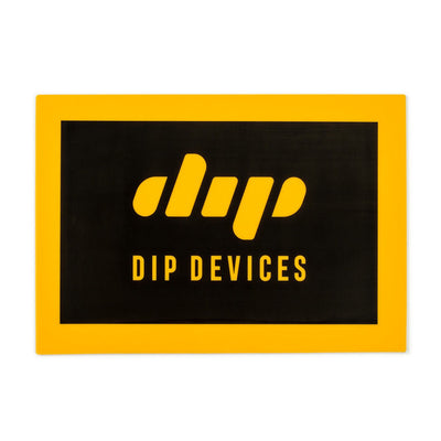 Dip black and yellow rectangular silicone mat