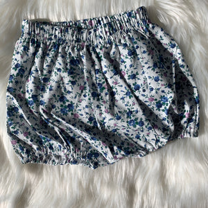 Blue Floral Bloomers