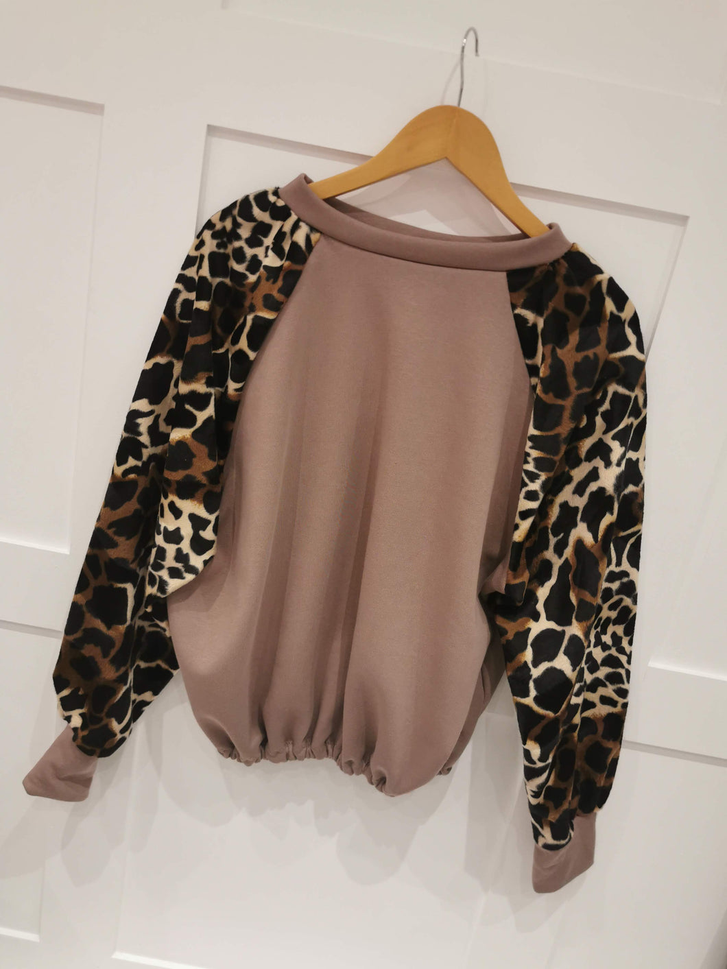 Giraffe Paneled Sweat Top