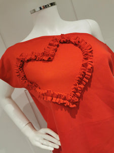 Valentines collection Evie Heart off the shoulder Tee