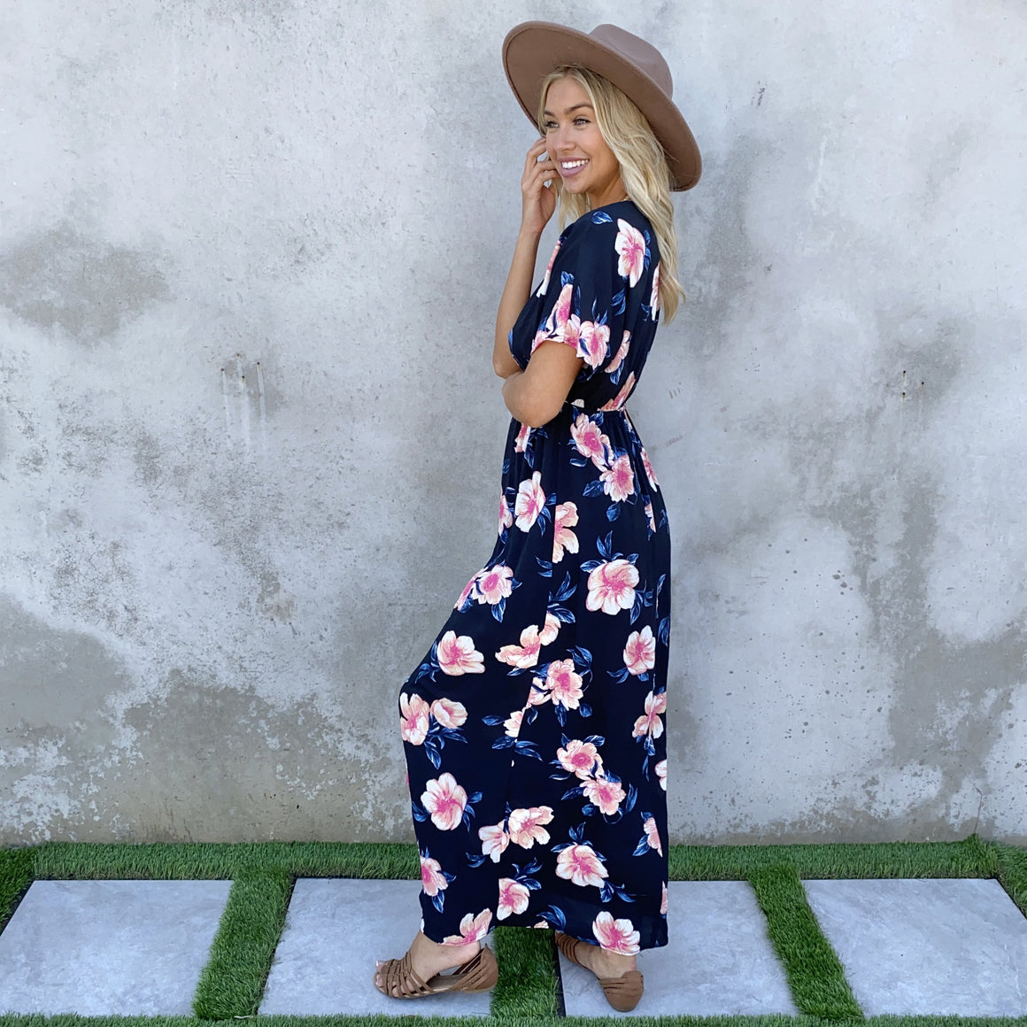 Gift Of Love Black Floral Print Maxi Dress - Dainty Hooligan