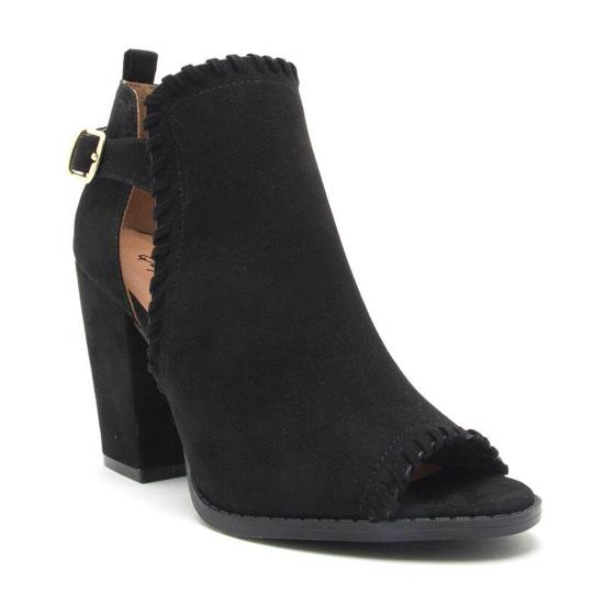 Rough Around The Edges Suede Black Booties