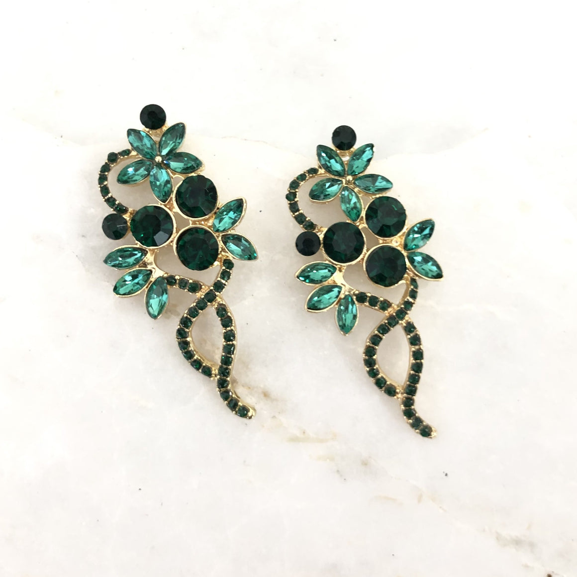 Emerald City Crystal Earrings
