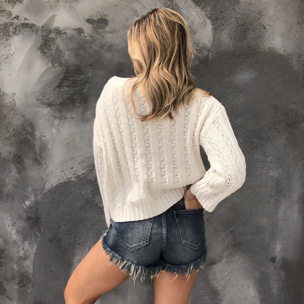 All Knit Up Sweater Top in Cream - Dainty Hooligan