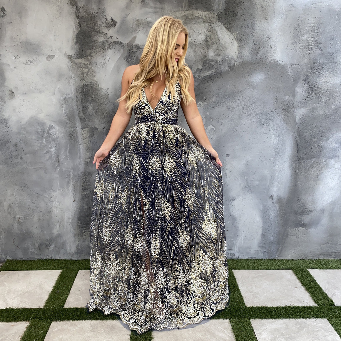 New Years Revelation Maxi Party Dress