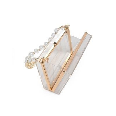 Mimi Clear Box Clutch Handbag